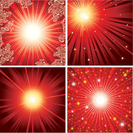 Vector set of shining backgrounds (from my  Stock Vector - 6199126