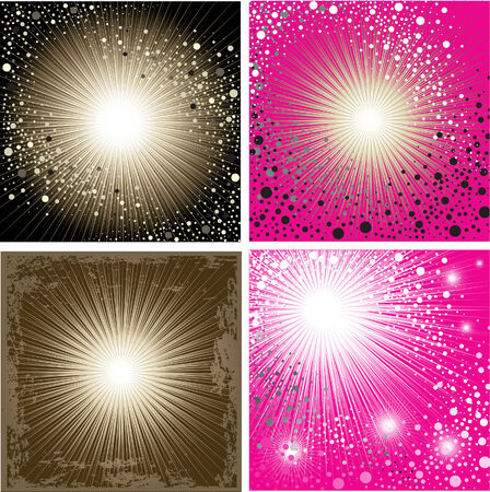 Vector set of shining backgrounds (from my  Stock Vector - 6199125