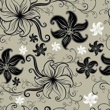 twirled: Vettore motivo seamless twirled floreale (dal mio grande