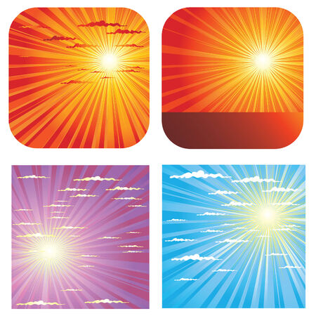 set of sky background Stock Vector - 6432425