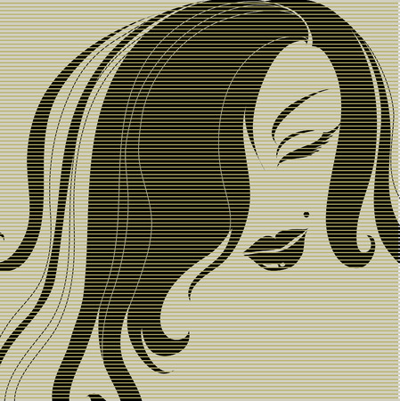 vintage illustration of a girl  (from my big Vintage girl collection) Vector