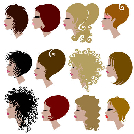 set of trendy hair styling for woman (from my big Stock Vector - 6728147