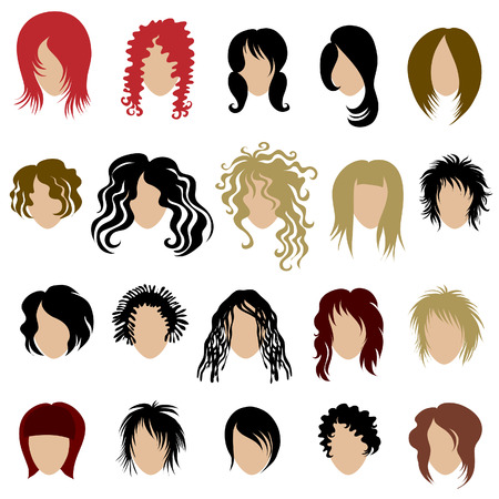 girl short hair: set of trendy hair styling for woman (from my big
