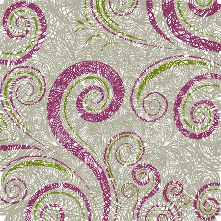 twirled: motivo floreale twirled astratta grunge