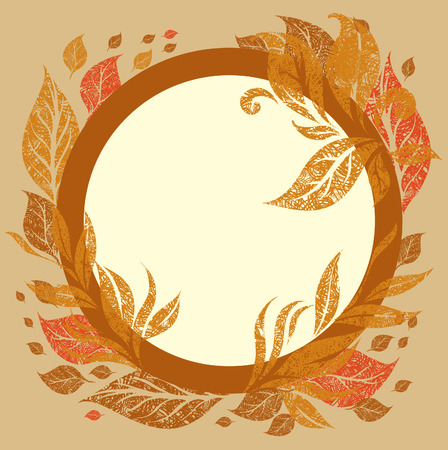 background with frame with Autumn Leafs. Thanksgiving