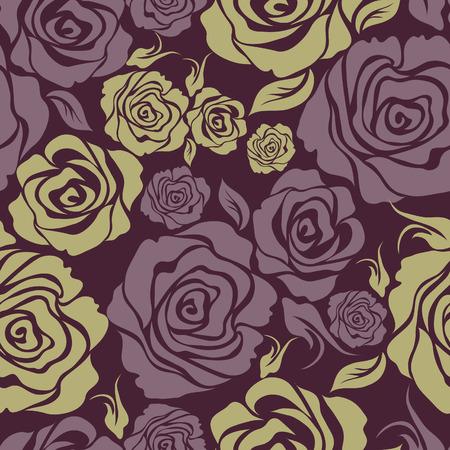 シームレスなビンテージ ローズ花柄