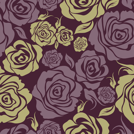 Seamless vintage flower rose pattern