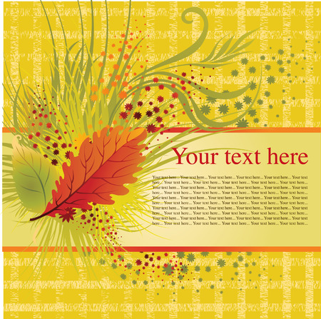 frame with colorful autumn leafs. Thanksgiving (from my big  Vector