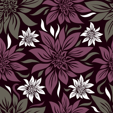 Seamless vintage floral pattern with lilly (From my big