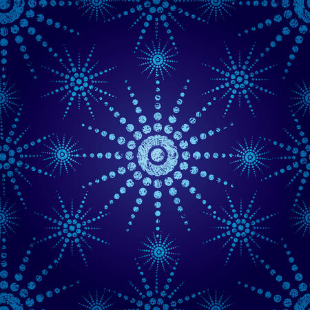 blue seamless Christmas pattern with grunge snowflakes (from my  Vector