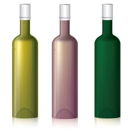 mash: Set of three vector multicolored bottle samples (with gradient mash)
