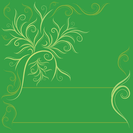 flysheet: Vector sample of design with decorative tree from leafs and place for text.