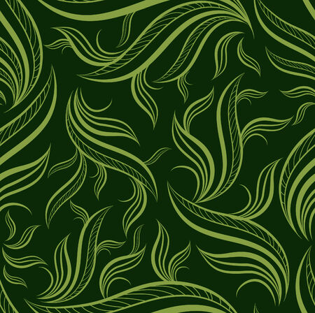 seamless tile: Seamless green floral pattern with leafs (From my big