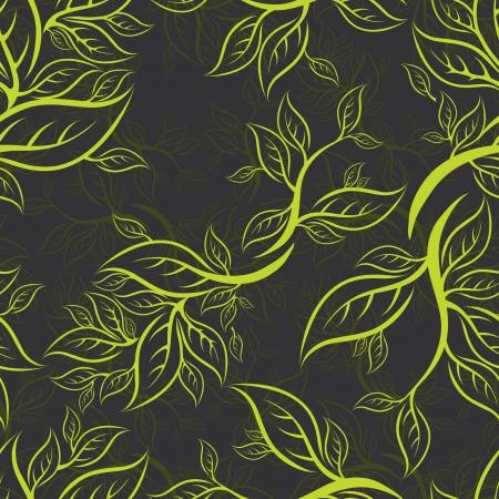 (から私の大きな葉とのシームレスな緑の花柄