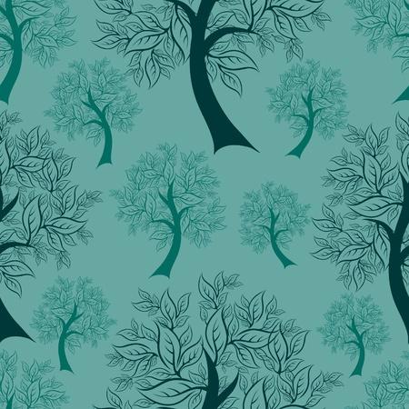 (から私の大きな木からのシームレスなパターン ベクトル