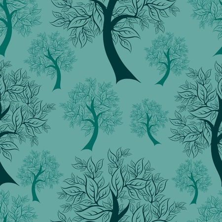 Vector seamless pattern from trees (From my big  Vector