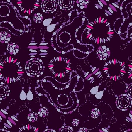 Vector seamless pattern of fashion jewelry Illustration