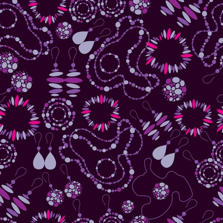 jewelery: Vector seamless pattern of fashion jewelry Illustration
