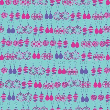 bijouterie: Vector seamless pattern of fashion jewelry