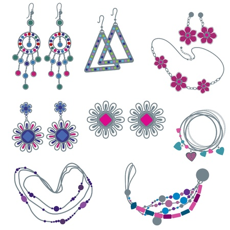 jewelery: set of fashion jewelry