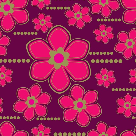 Seamless floral pattern with lilly flower