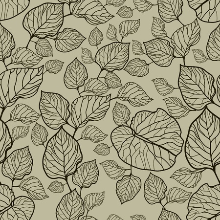 Seamless vector grunge autumn leaves background. Thanksgiving (from my big  Vector