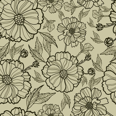 Vector seamless floral pattern (from my big