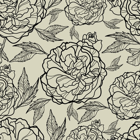 Vector seamless floral pattern (from my big  Vector