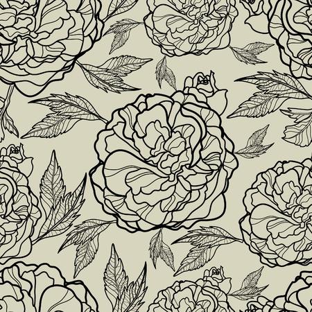 peony tree: Vector seamless pattern floreali (dal mio grande