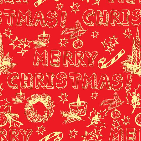 Seamless vector Christmas pattern (from my big seamless collection) Vector