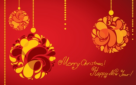 twirled: Vector decorative Christmas background with ball (from my