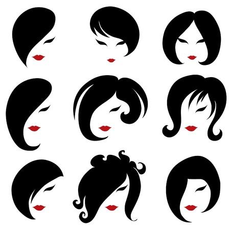 femme dressing: Big ensemble de la coiffure noire pour la femme (de mon grand