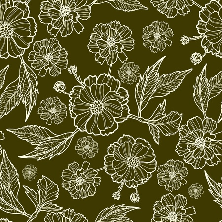 tree peony: Vector seamless floral pattern (from my big