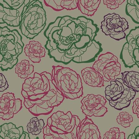 brie: Vector naadloze bloemmotief met rozen