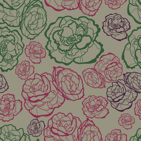 brie: Vector seamless floral pattern with roses