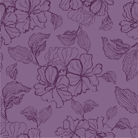 Vector seamless grunge floral pattern with flowers Stock Vector - 12371147