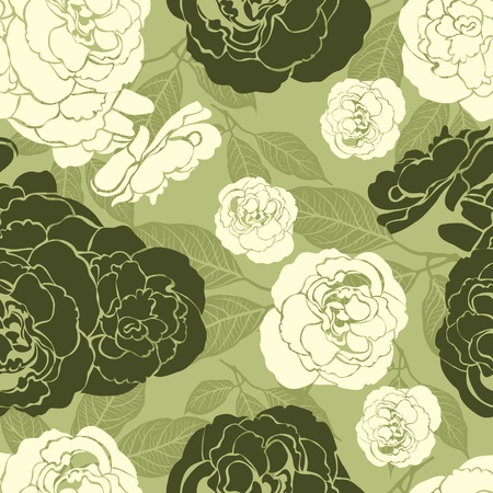 botanics: Vector seamless vintage floral pattern with flowers