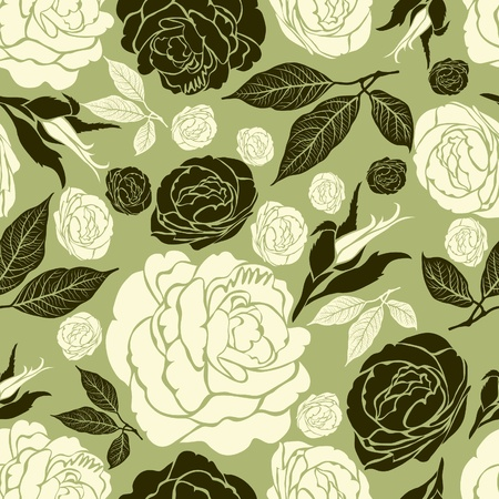 Vector seamless vintage floral pattern with flowers Vector