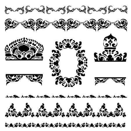 カンボジアの花柄のパターンのベクトルを設定