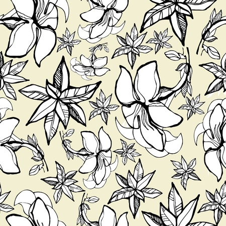 Vector seamless floral pattern with spring flowers Vector