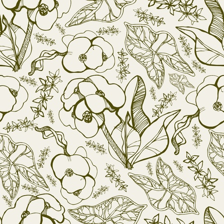Vector seamless floral pattern with spring flowers Stock Vector - 12816796