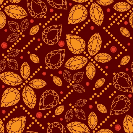 Vector seamless pattern flowers from diamond design elements Vector