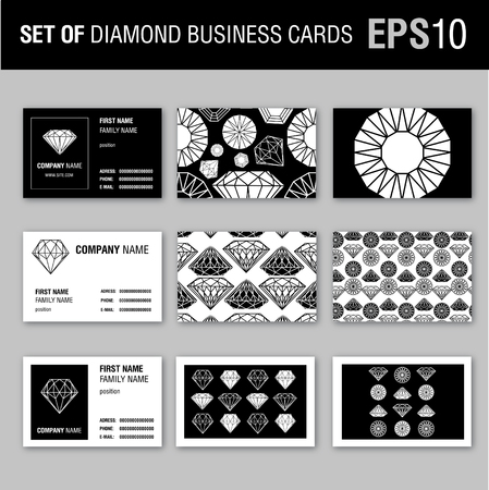 Vector set of diamonds design elements - templaes for design Vector