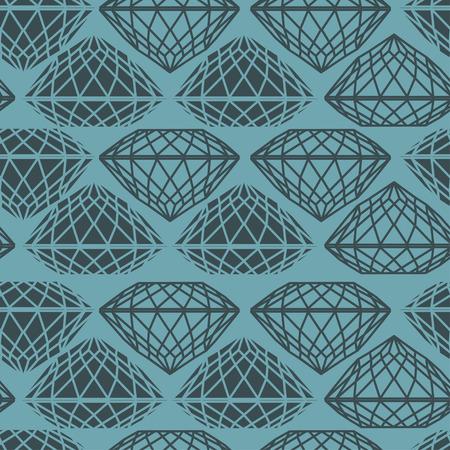 bijou: Vector seamless pattern from diamond design elements