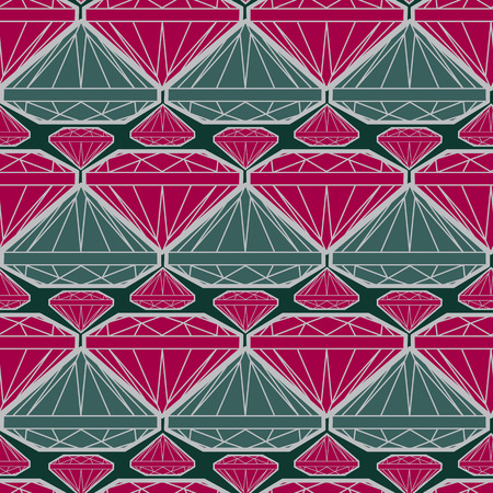 Vector seamless pattern from diamond design elements Vector