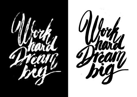 enten: Vector handgemaakte motivatie citaten - getrokken door inkt en penseel