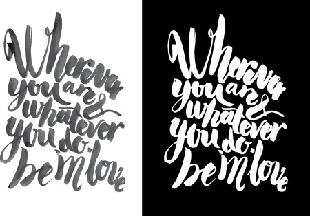 graft: Vector handmade motivation quotes - drawn by ink and brush Illustration