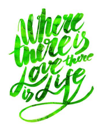 graft: Handmade motivation quotes watercolor