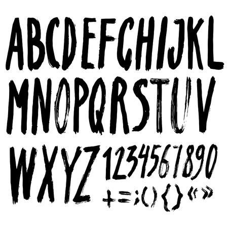 roman alphabet: Handmade Roman alphabet with creative texture Stock Photo