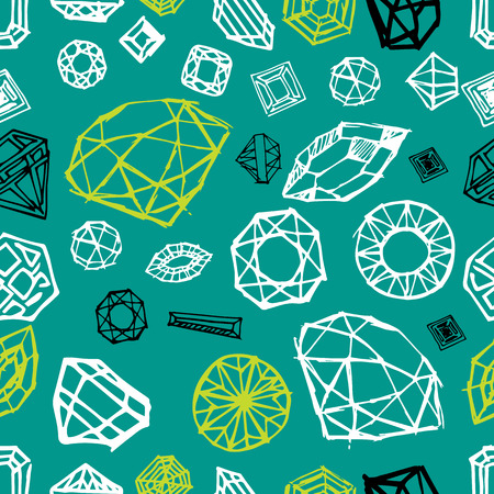 samples: Vector seamless pattern with diamond design elements - cutting samples